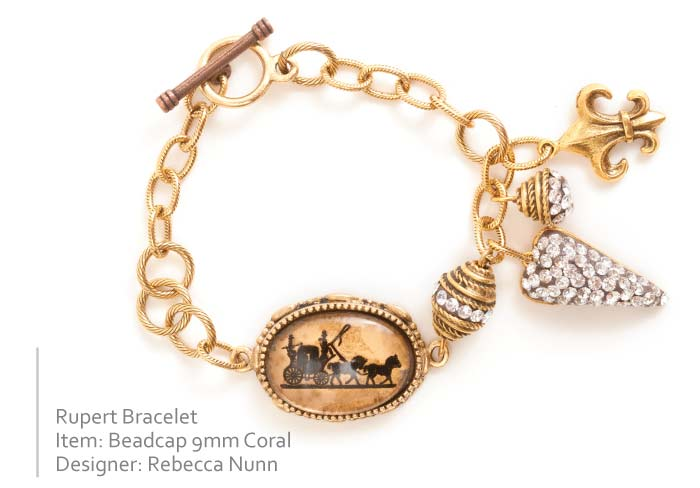 Bracelet with Beadcaps by Rebecca Nunn