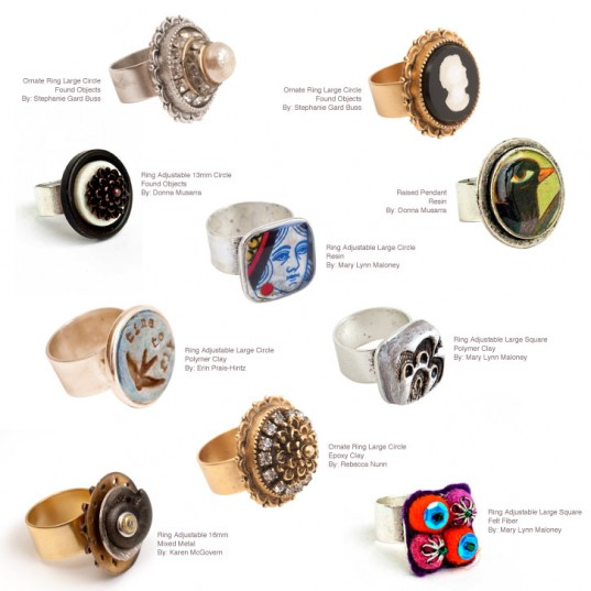 10 Great Ring Projects using Adjustable Rings