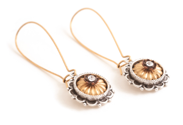 Earrings using Nunn Design new beadcaps