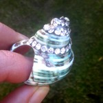 Ellie Mac Shell Ring with chatons