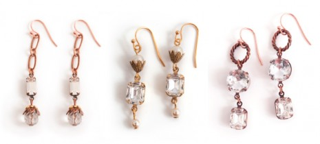 Earrings with Nunn Design Prong settings