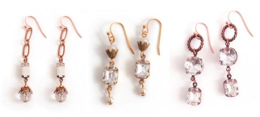 Earrings with Nunn Design Prong settings