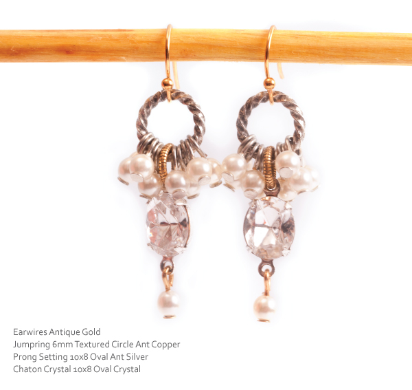 Earrings using Prong Settings and Chatons