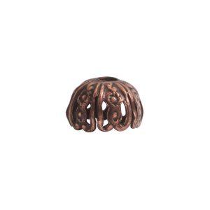 Beadcap 10mm Crown Antique Copper