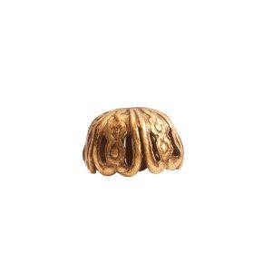 Beadcap 10mm Crown Antique Gold