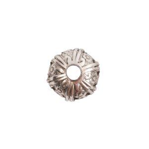 Beadcap 10mm Crown Antique Silver