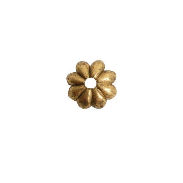 Beadcap 6mm Petal Antique Gold