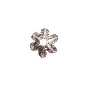 Beadcap 8mm Daisy Antique Silver