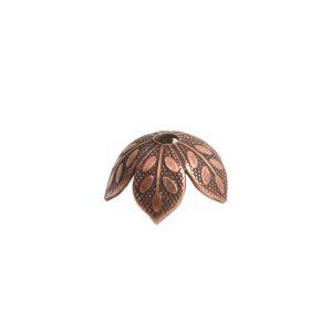 Beadcap 8mm Etched Daisy Antique Copper