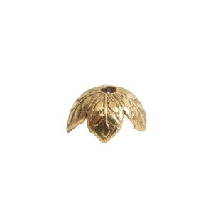 Beadcap 8mm Etched Daisy Antique Gold