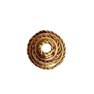 Beadcap 9mm Coral Antique Gold