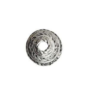 Beadcap 9mm Coral Antique Silver