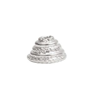 Beadcap 9mm Coral Sterling Silver Plate