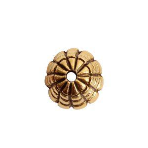 Beadcap 9mm Sea Hive Antique Gold