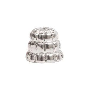 Beadcap 9mm Sea Hive Sterling Silver Plate