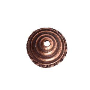 Beadcap 9mm Sea Spire Antique Copper