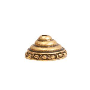 Beadcap 9mm Sea Spire Antique Gold