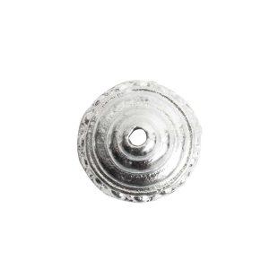 Beadcap 9mm Sea Spire Sterling Silver Plate