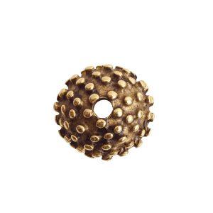 Beadcap 9mm Urchin Antique Gold