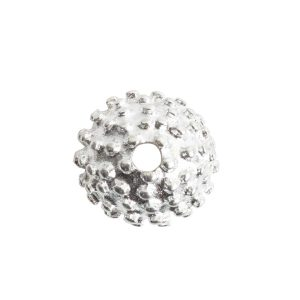 Beadcap 9mm Urchin Sterling Silver Plate