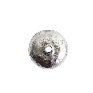 Beadcap Hammered Antique Silver