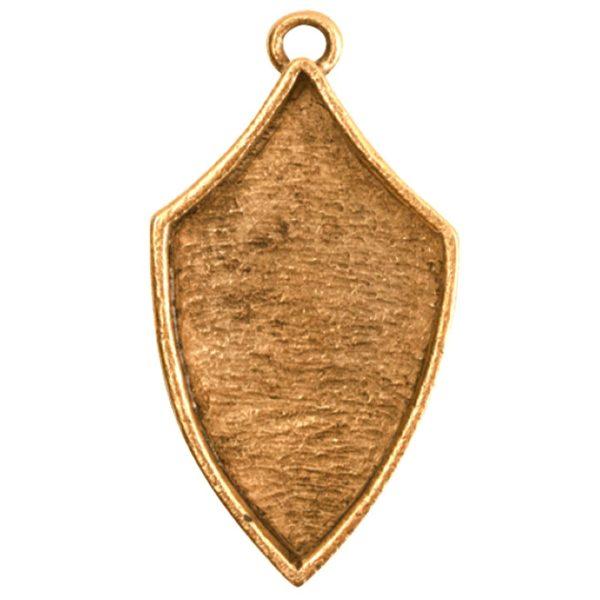 Crest Pendant Regiment Antique Gold