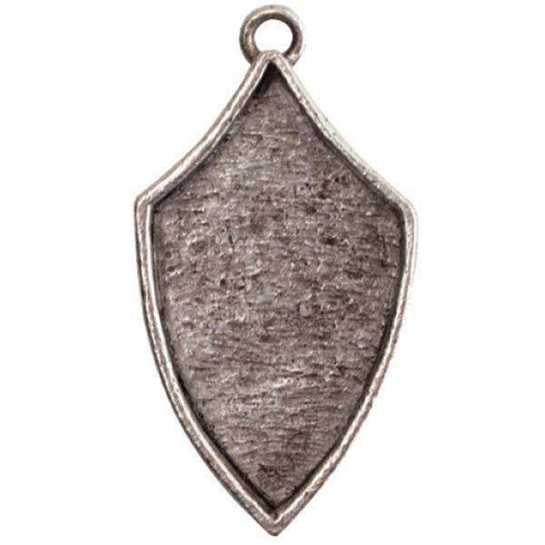 Crest Pendant Regiment Antique Silver