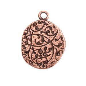Crest Pendant Seal Antique Copper