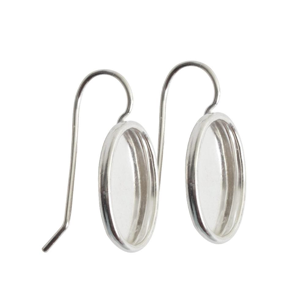 Earring Small OvalSterling Silver Plate Nickel & Lead Free - Nunn ...