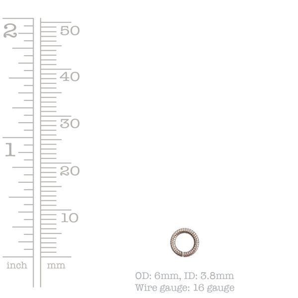 Jumpring 6mm Textured Circle