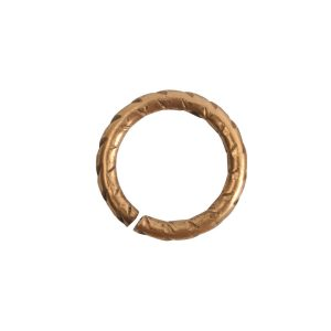 Jumpring 9mm Textured Circle Antique Gold
