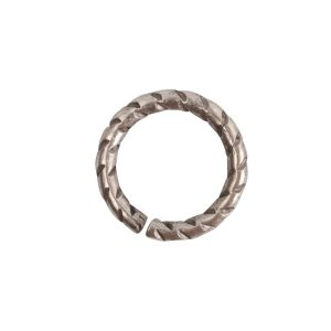 Jumpring 9mm Textured Circle Antique Silver