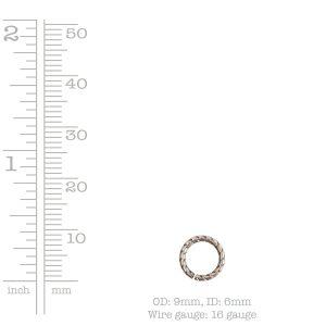Jumpring 9mm Textured Circle