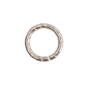 Jumpring 9mm Textured Circle Sterling Silver Plate