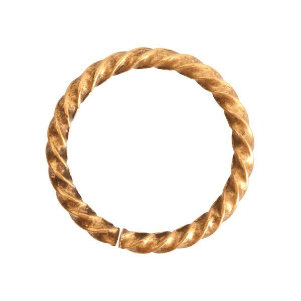 Jumpring Grande Rope Antique Gold