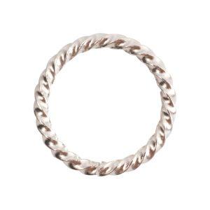 Jumpring Grande Rope Sterling Silver Plate
