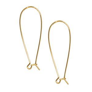 Kidney Earwire Antique Gold