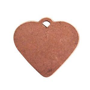 Large Pendant Heart Antique Copper