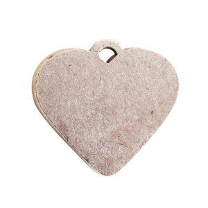 Large Pendant Heart Antique Silver