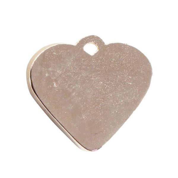 Large Pendant Heart Sterling Silver Plate