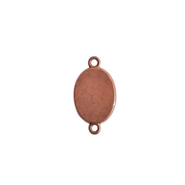 Mini Link Double Loop Oval Antique Copper