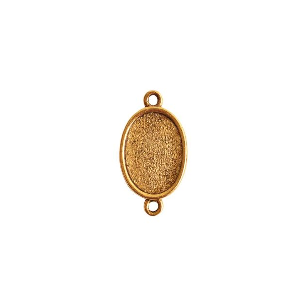 Mini Link Double Loop Oval Antique Gold