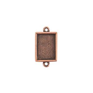 Mini Link Double Loop Rectangle Antique Copper