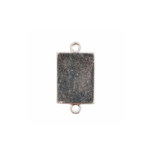 Mini Link Double Loop Rectangle Sterling Silver Plate