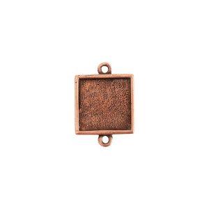 Mini Link Double Loop Square Antique Copper