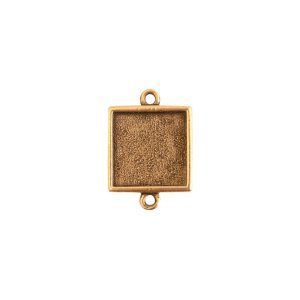 Mini Link Double Loop Square Antique Gold