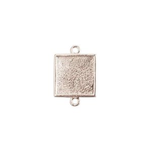 Mini Link Double Loop Square Sterling Silver Plate