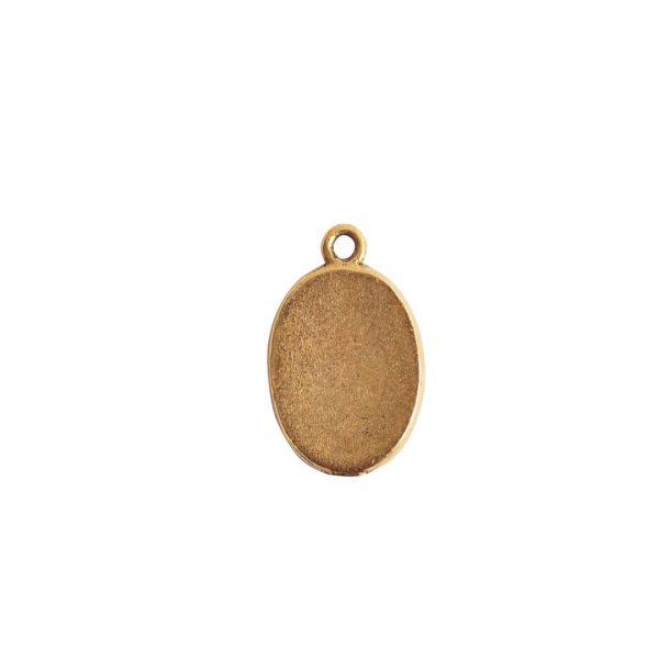 Mini Link Single Loop Oval Antique Gold
