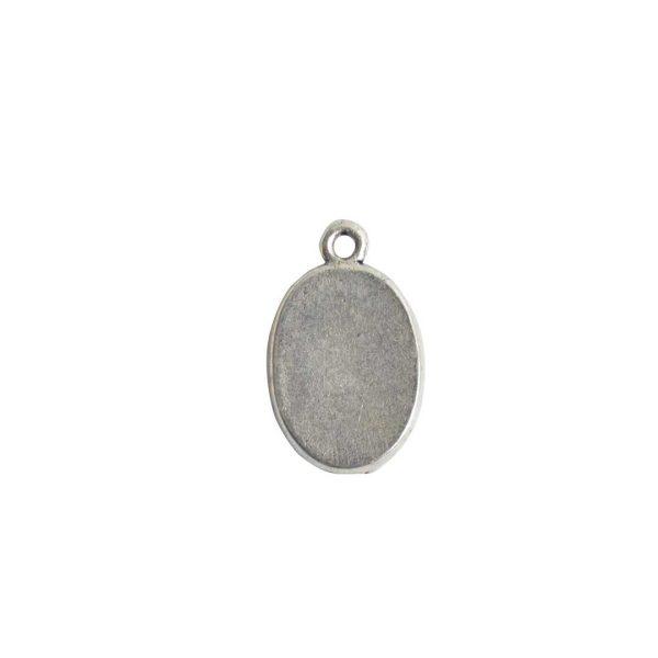 Mini Link Single Loop Oval Antique Silver