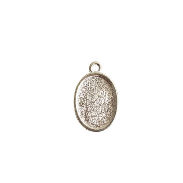 Mini Link Single Loop Oval Sterling Silver Plate